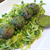 Turkey Meatballs with Zucchini Noodles and Chimichurri Sauce