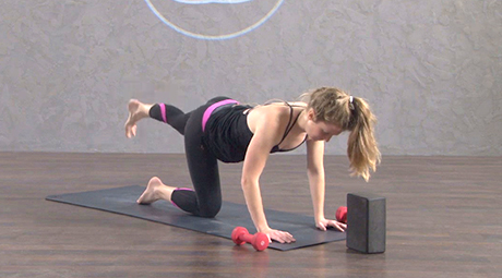 online yoga with weights class