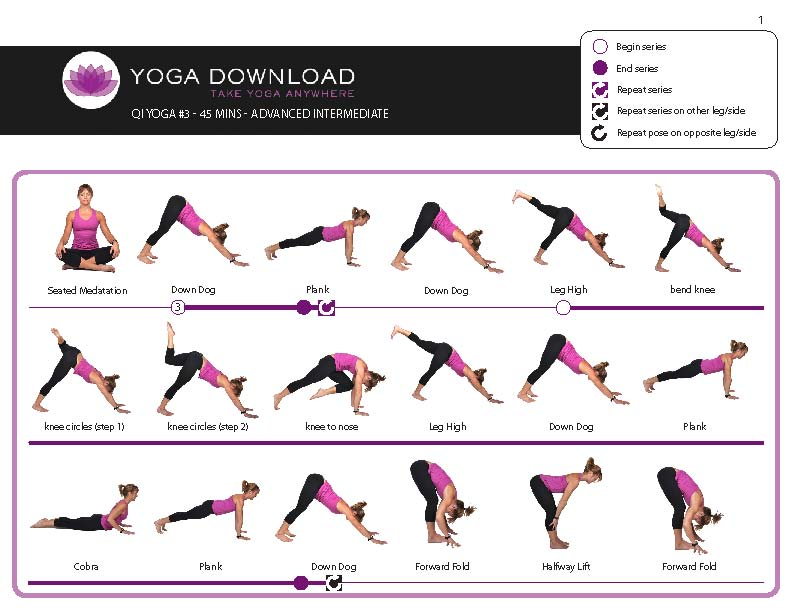 Shocking image in printable yoga routine