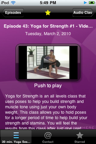 Yoga iPhone App