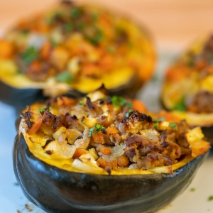 Herbed Turkey Stuffed Squash