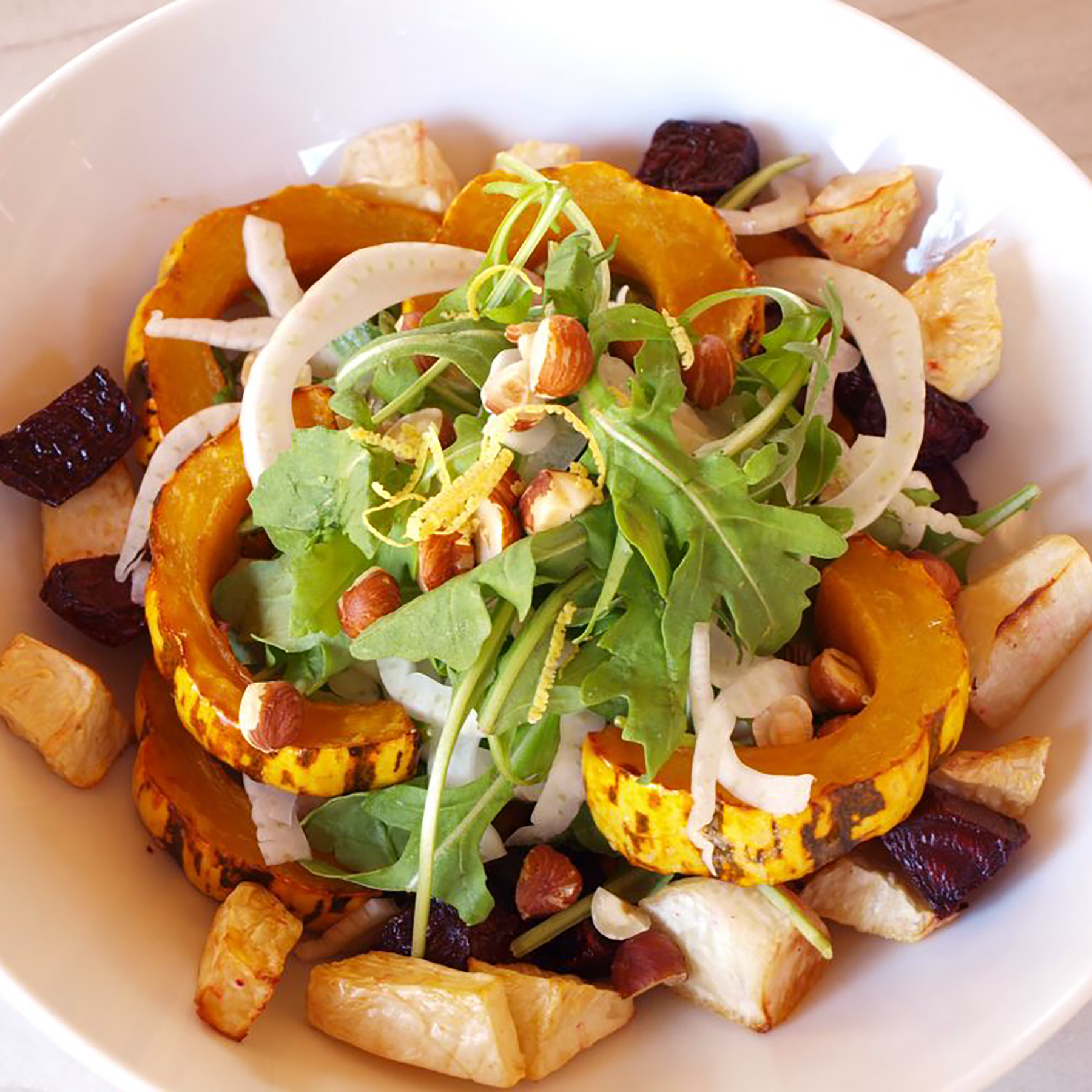 Roasted Vegetable Salad with Delicata and Arugula