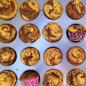 Sugar Free Chocolate Peanut Butter Muffins