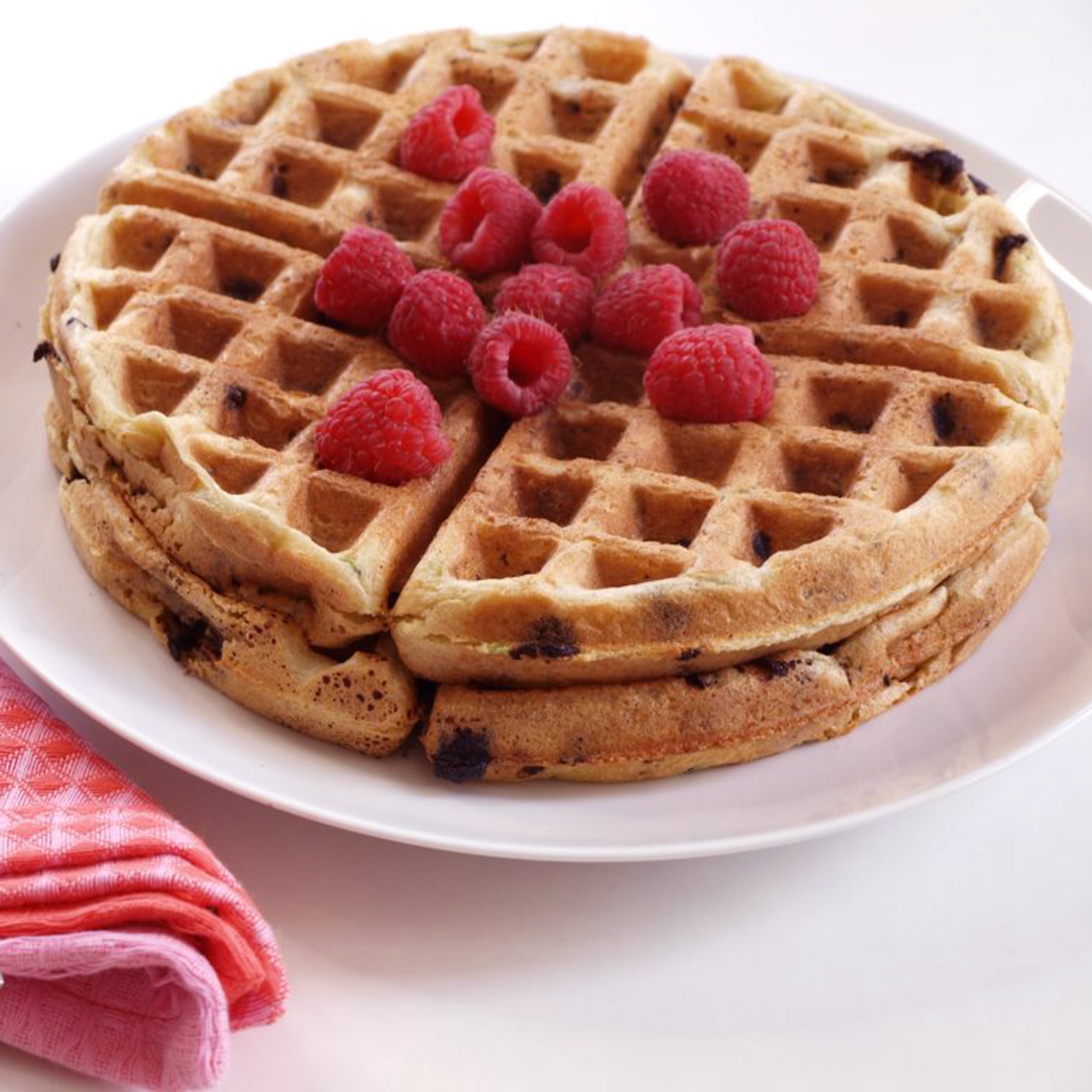 Grain-Free Paleo Zucchini Chocolate Chip Waffles