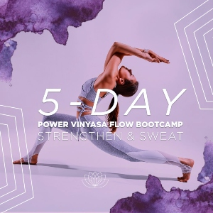 5-Day Power Vinyasa Flow Bootcamp: Strengthen & Sweat