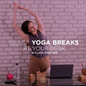 Quick Yoga Breaks at Your Desk: 16-Class Package