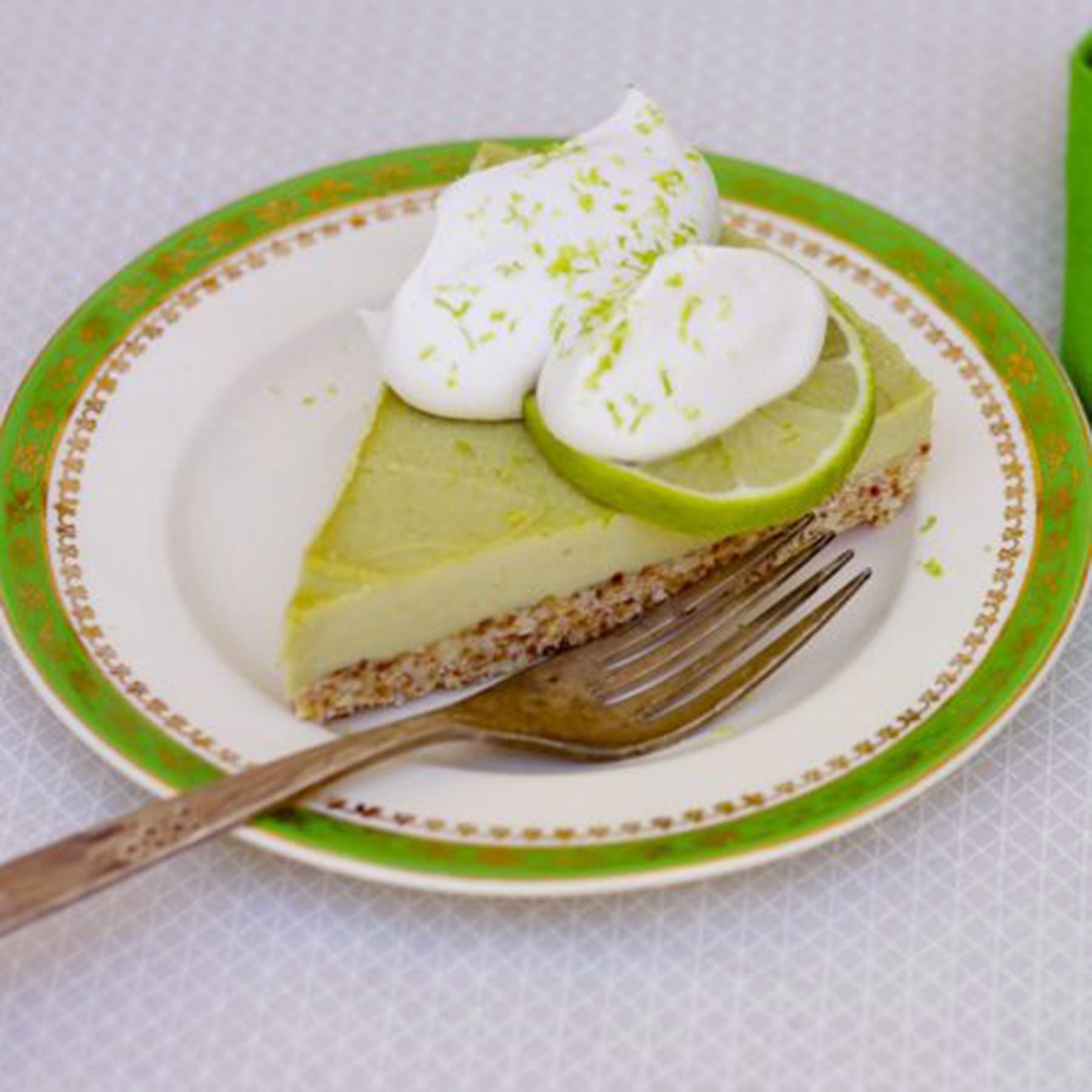 Raw Key Lime Vanilla Bean Tart