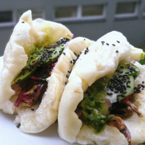 Homemade Bao Buns with Oyster Mushrooms
