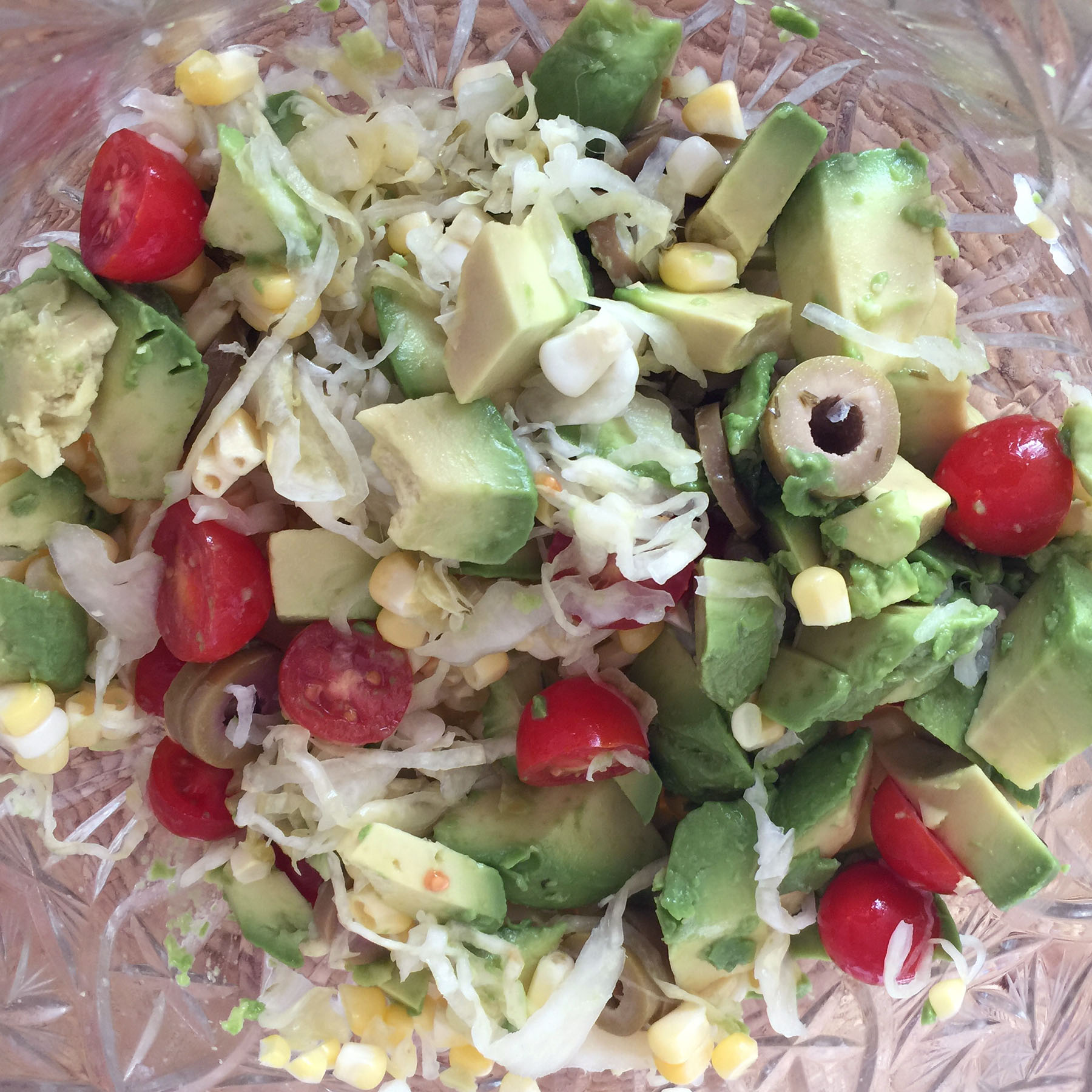 Raw Vegan Avocado Corn Salad Recipe