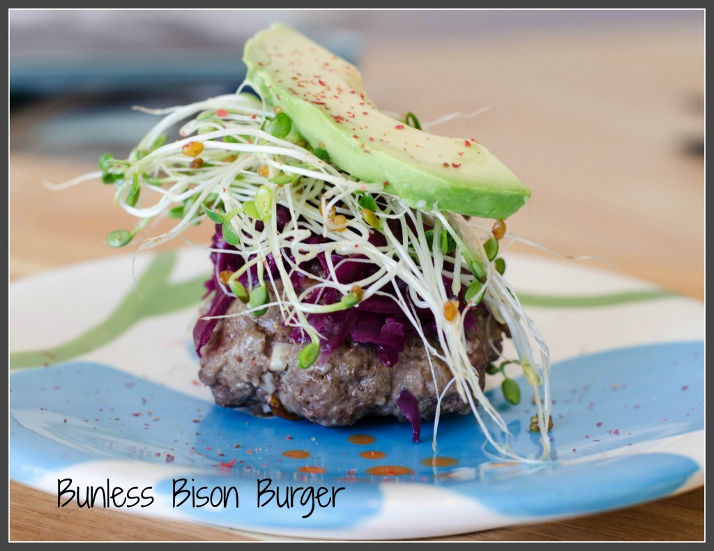 Bunless Bison Burger