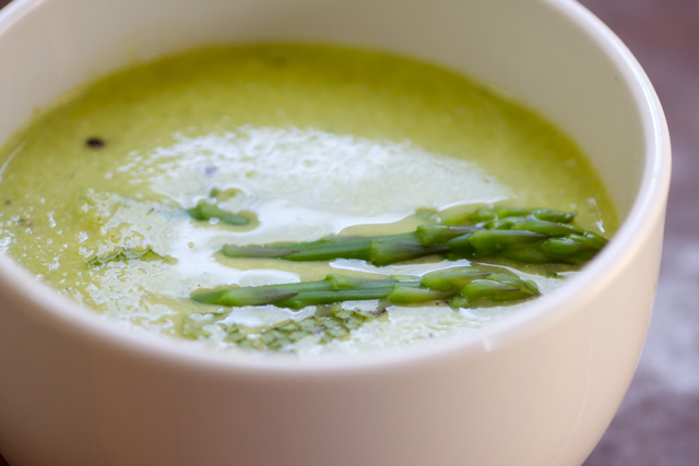 Simple Asparagus Mint Soup