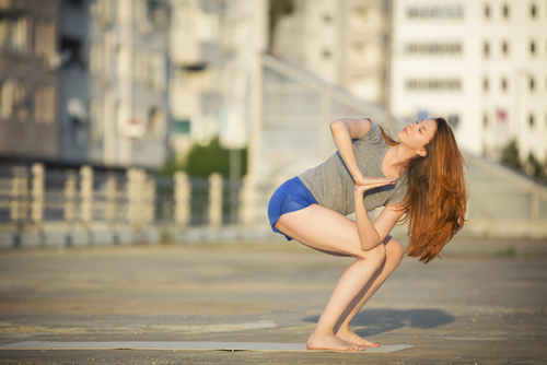 Featured Pose: Parivitta Utkatasana or Prayer Twist