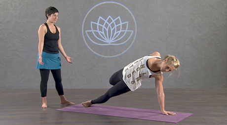 fallen triangle flow  online vinyasa yoga class with