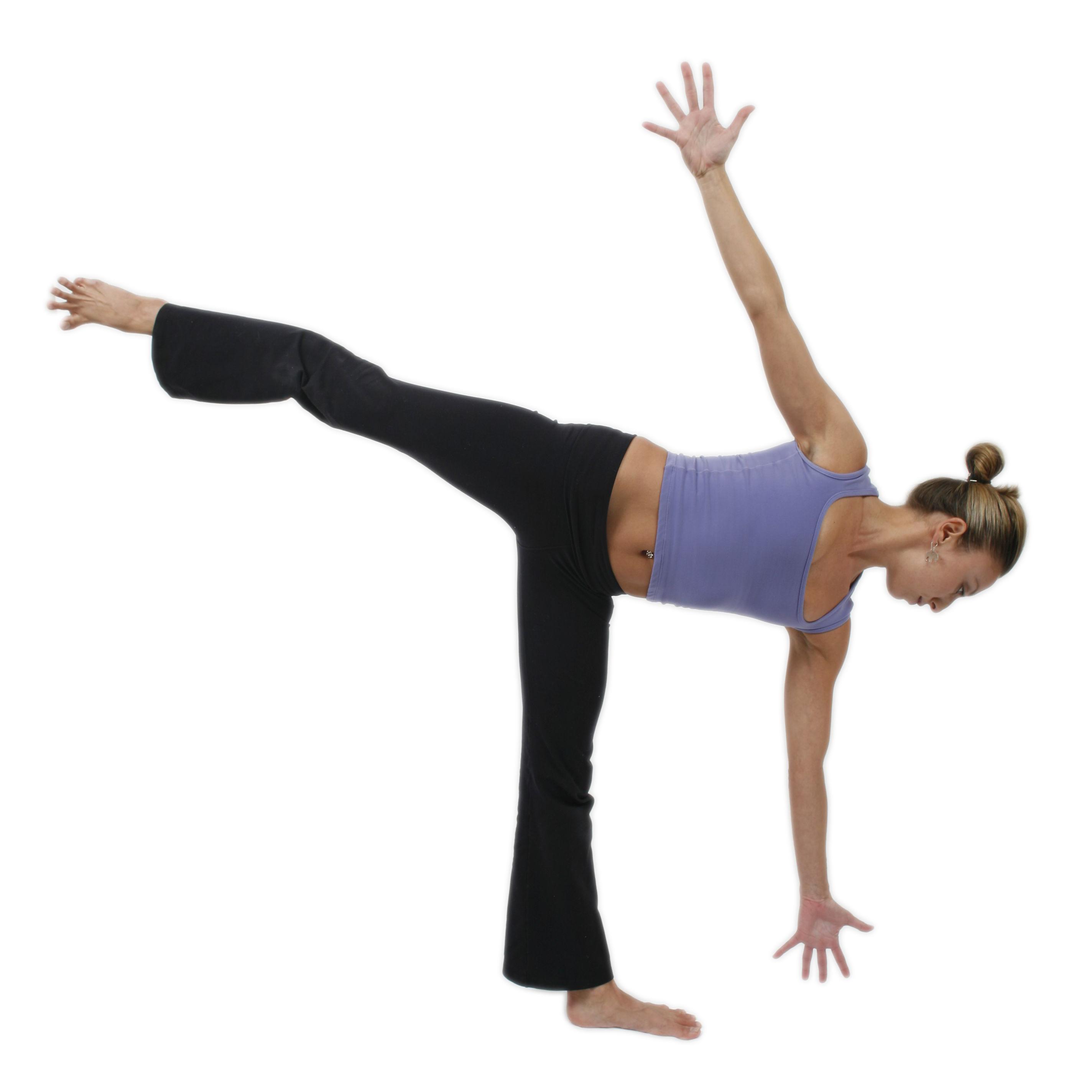 Yoga Poses For Beginners Chart Half Moon Pose - Pose ...