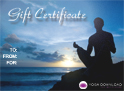yoga gift certificate