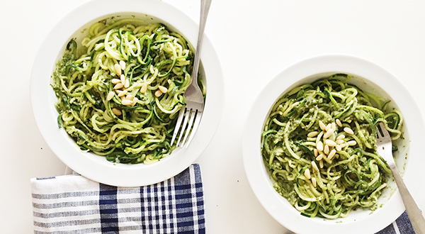 Zucchini Noodles with Perfect Pesto