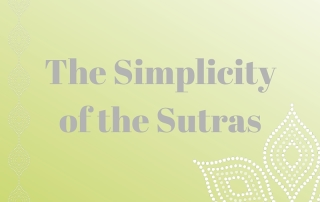 The Simplicity of the Sutras