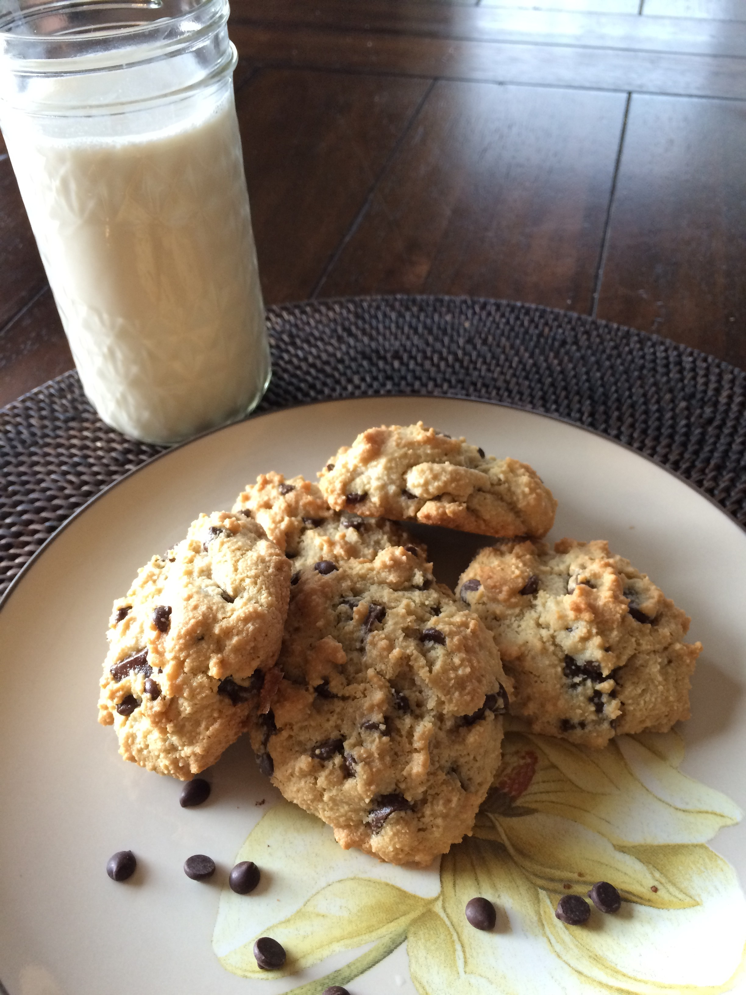 Guilt-Free Almond Chocolate Chip Cookies